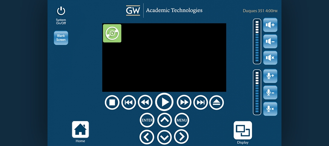 Interface Design - DVD Screen
