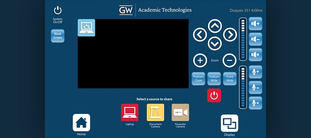 Interface Design - Web Conferencing Screen